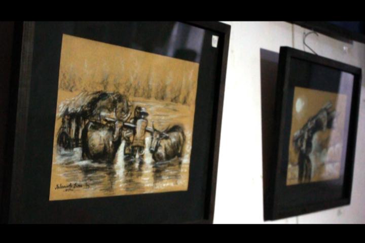 Dina Rabearivelo, un peintre qui vit de son art.