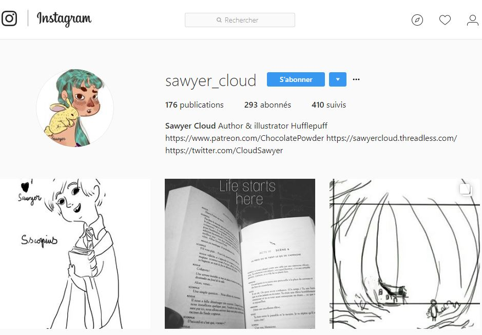 compte instagram de sawyer_cloud